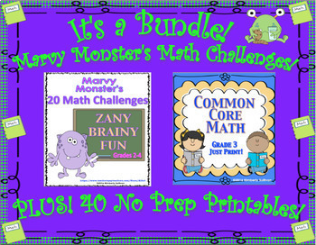 Bundle Math Challenges Common Core Printa