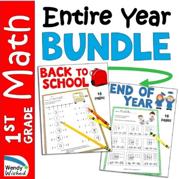 Bundle of Math CCSS First Grade Just Print It Collections