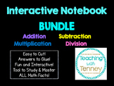 Bundle of Math Facts for Interactive Notebook