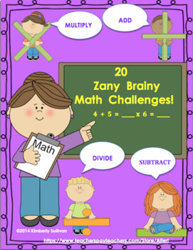 Back to School Math Games and Challenges  440 Task Cards Centers!