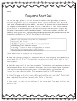 Mesopotamia Unit (Fertile Crescent): 7 Activities & Projects