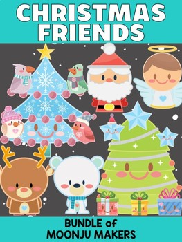 Christmas Friends - Bundle of Moonju Makers, Crafts, Decor, Winter Activity