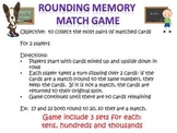 Bundle of Place Value Mat Game and Rounding Match Game for