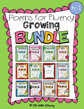 Bundle of Poems for Building Reading Fluency & Writing Stamina (K-2)