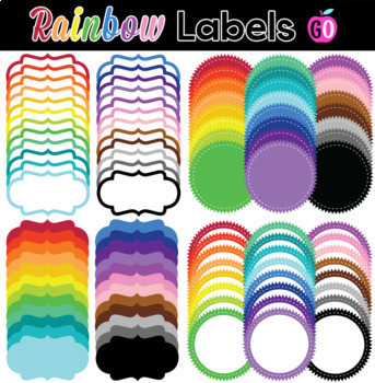 96 Rainbow Labels