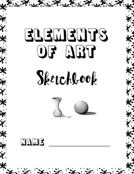 Bundle of Printable Art Sketchbooks:  5 packets of art prompts and worksheets
