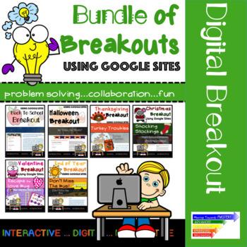Bundle of Seasonal Digital Breakouts