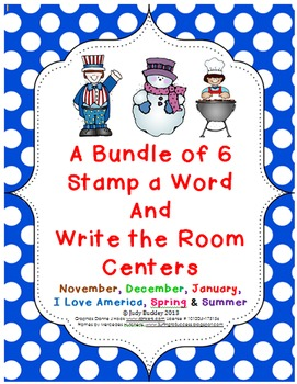 Bundle of Seasonal Stamp a Word and Write the Room Centers