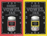 Bundle of Short Vowel and Long Vowel Jars for Workstations and Centers