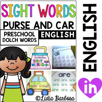 Bundle of Sight Words in a Purse and Car