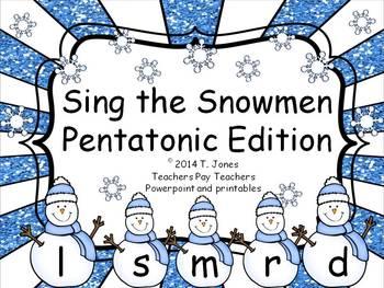 Bundle of Sing the Snowmen Files - Solfege Singing Melodic Practice