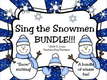 Bundle of Sing the Snowmen Files - Solfege Singing Melodic