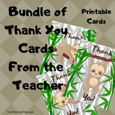 Bundle of Sloth Thank You Cards - Note Cards - Thank You from Teacher