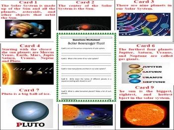 Bundle of Solar Units: Solar system/Solar scavenger hunt/Solar energy/The stars