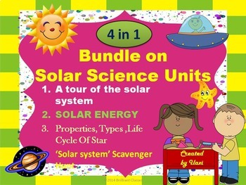 Bundle of Solar Units: Solar system/Solar scavenger hunt/S