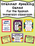 Bundle of Spanish Grammar Speaking Games