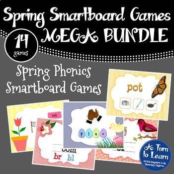 Mega Bundle of Spring Themed Smartboard and Promethean Boa