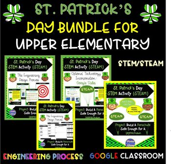Bundle of St. Patrick's Day Activities!  Reading, Writing, Math and STEM!