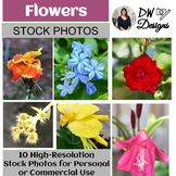 Bundle of Stock Photos - Flower Picture Pack - Group of 10