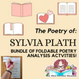Bundle of Sylvia Plath foldable poetry analysis activities