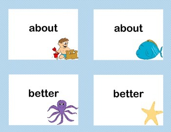 Bundle of Third Grade Sight Word Printable Concentration Games- Four Seasons