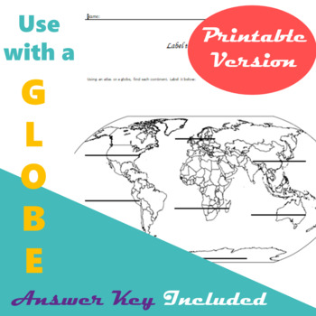 Bundle of Three Atlas/Globe Activities (Printable Version)