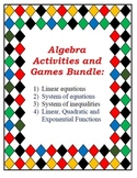 Bundle of Top Seller Algebra Resources: Equations, Systems, Functions