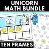 Bundle of Preschool Kindergarten Math Ten Frames Number Hu