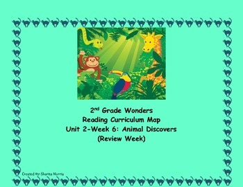 Bundle of Unit 2 Wonders Reading Curriculum Maps Weeks 1-6