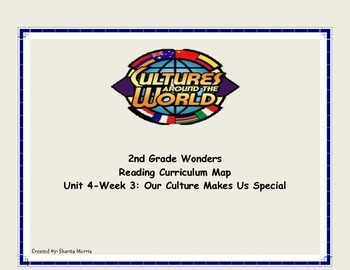 Bundle of Unit 4 Wonders Reading Curriculum Maps Weeks 1-6