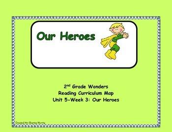 Bundle of Unit 5 Wonders Reading Curriculum Maps Weeks 1-6