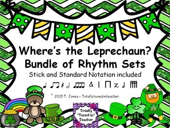 Music Games for St. Patrick's Day: Where is the Leprechaun Bundle {Rhythm Games}