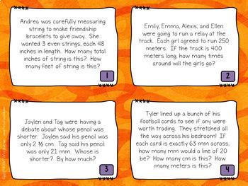Bundle of  Word Problem Task Cards: Grade 4-5