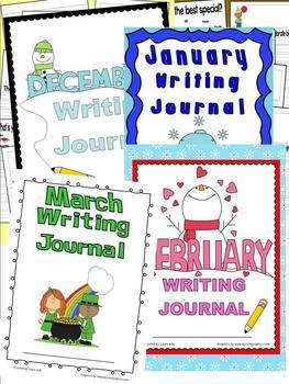 Bundle of Writing Journals for the whole year - 1st and 2nd grade CCSS Prompts