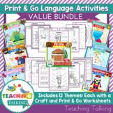 Speech & Language Activities, Crafts and Worksheets Bundle