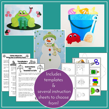 Speech & Language Therapy Activities, Crafts and Worksheets Bundle