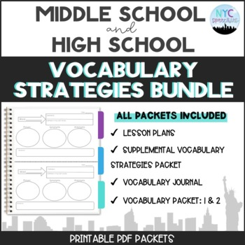 Bundle of all the Vocabulary Strategies Packets