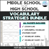 Bundle:  ALL Vocabulary Strategies Packets
