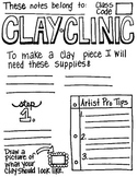 Bundle of step-by-step clay techniques & note taking worksheets