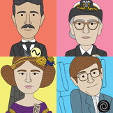 Bundle of famous scientist classroom posters (30 heroes of STEM)