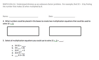 Bundle of grade three Operations and Algebraic thinking Assessments