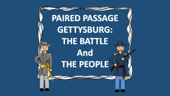 Close Reading Gettysburg Bundle of paired passages