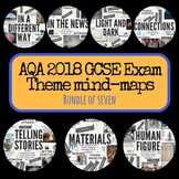 Bundle of seven AQA GCSE exam theme interactive mind-maps