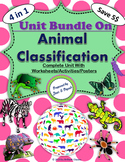 Bundle on Animal Classification with Worksheets/Activities/Posters