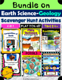 Bundle on Earth Science (Geology units) Scavenger Hunt Activities