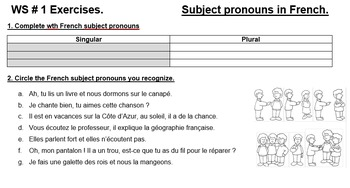 Subject pronouns : Powerpoint presentation and hands-on activities.