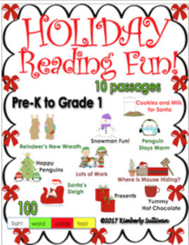 Bundle reading comprehension passages and questions Christmas Fall