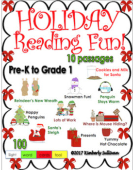 Bundle reading comprehension passages and questions Christmas Winter