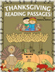 Bundle reading comprehension passages and questions Thanksgiving K - 1