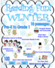 Bundle reading comprehension passages and questions winter + game